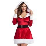 Robe de Mère Noël sexy capuche ceinture