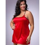 Lovehoney Plus Size seidiges Unterkleid in Rot