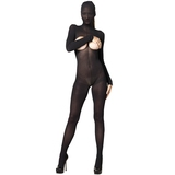 Leg Avenue Kink Hooded Open Cup Crotchless Bodystocking