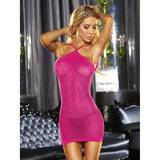 Mini robe paillettes VIP rose vif, Lapdance