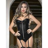 Escante Wet Look Zip Up Bustier Set