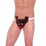 Rude-olf Reindeer Sexy Novelty Thong for Men