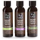 Earthly Body Hemp Seed Massage Oil Gift Set (3 x 60 ml)