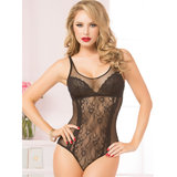 Seven til Midnight See Through Mesh and Lace Teddy