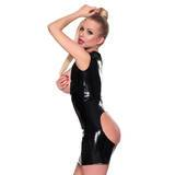 Sexy Latex Black Underbust Spanking Dress with Soft Lining