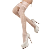 Ballerina Hush Hush White Patterned Knee Highs