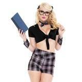 Music Legs Educated Bookworm 6 pc School Girl Outfit