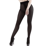 Miss Naughty Crotchless 100 Denier Blackout Opaque Pantyhose