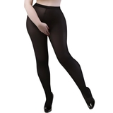 Miss Naughty Plus Size Crotchless 100 Denier Tights