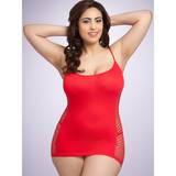Lovehoney Plus Size figurbetontes rotes Minikleid