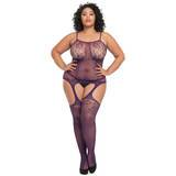 Lovehoney Plus Size Bodystocking (Pflaume)