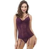 Lovehoney Indulge Me Purple Lace Basque Set
