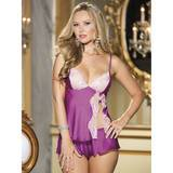 Shirley of Hollywood Berry Charmeuse and Lace Cami Set