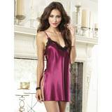 Dreamgirl Raspberry Tie Side Charmeuse Chemise