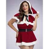 Miss Santa Plus Size Dress and Cape Outfit