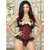 iCollection Underbust Red Corset and Thong Set