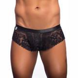 Malebasics Black Lace Cheeky Shorts