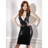 Late X Collection Plunge Latex Pencil Dress