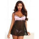 Dreamgirl Lace and Mesh Underwired Babydoll Set