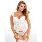 Dreamgirl Lace Merry Widow Push-Up Bustier Set