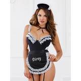 Dreamgirl Crotchless French Maid Costume with Garter Apron