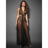 Dreamgirl Long Sheer Gown with Cut-Outs