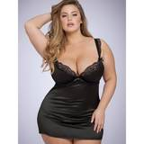 Lovehoney Plus Size Treasure Me Black Underwired Babydoll Set