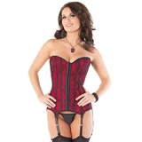 Coquette Satin and Lace Corset with Suspenders