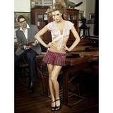 Naughty Schoolgirl Skirt and Tie-Up Lace Top
