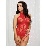 Dreamgirl High Neck Underwired Lace Bustier with Boning