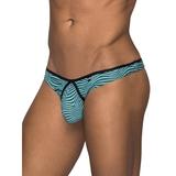 Male Power Stripe Mesh Thong