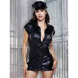 Baci Black Wet Look Dirty Cop Costume Set (4 Piece)