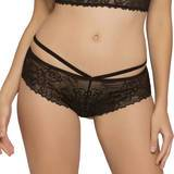 Seven 'til Midnight Black Cage-Back Knickers