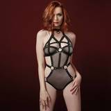 Dreamgirl Strappy Fishnet Teddy