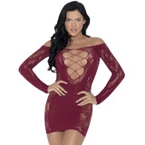 iCollection Criss-Cross Front Long Sleeve Mini Dress