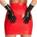 Rubber Girl Latex Black Gloves