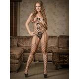 Exposed Black Fence Net Suspender Bodystocking