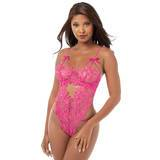 Dreamgirl Pink Lace Thong Teddy