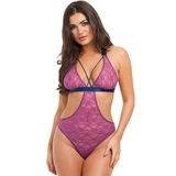 Lovehoney Free Spirit Pink Lace Cut-Out Strappy Body