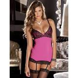 Rene Rofe Hollywood Pink Chemise and G-String Set