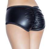 Coquette Darque Plus Size Wet Look and Lace Hot Pants
