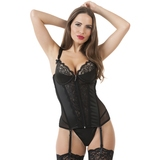 Lovehoney Treasure Me Black Push-Up Basque Set