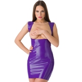 Easy-On Latex Purple Underbust Spanking Dress