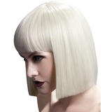 Fever Blonde Blunt Cut Bob Wig with Fringe