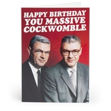 Happy Birthday Cockwomble... Adult Greetings Card