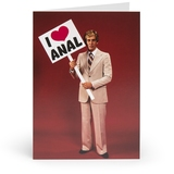 I Love Anal Adult Greetings Card