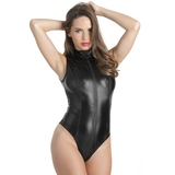 Lovehoney Fierce Wet Look Zip-Around Peek-A-Boo Body
