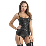 Lovehoney Fierce Leather-Look Basque Set