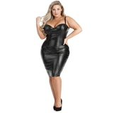 Lovehoney Plus Size Fierce Leather-Look Bodycon Dress