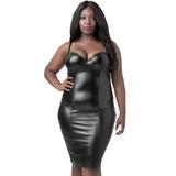 Lovehoney Plus Size Fierce Bodycon-Kleid im Leder-Look